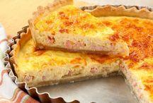 Quiche de peito de peru e queijo