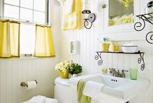 design BATHROOMS / ...the place where you have a good chance to be totally alone! Make it pretty! / by The 36th Avenue .com