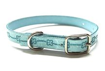 COLLARES PARA CACHORROS / Collares para cachorros o perros de raza pequeña, fabricados en cuero, disponibles en variedad de colores ocn estampados diferentes.