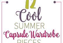 Spring / Summer Capsule Wardrobe / Pieces that will work for a spring capsule wardrobe and a summer capsule wardrobe.