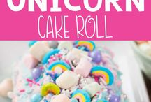 unicorn cake roll
