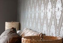 Stencilled Walls / Wall design ideas