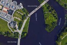 Minto Bridges, Ottawa, Ontario, Canada / Vehicle bridge decks Minto Bridges (east, centre, and west), Ottawa, Ontario, Canada