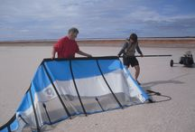 Lake Lefroy land sailing / Great fun in the wind, no noise, as fast as you can go.