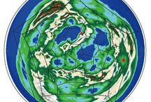 2D fullerene map / Truncated icosahedron, Planarization