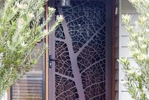 Custom Secutiry Doors / My latest little innovation was inspired by my run of the mill fly wire screen, and my real distaste for it.   I'm now custom designing security doors for my clients to make the traditional door both secure, and visually appealing!  For more information, visit us at entanglements.com.au