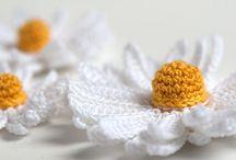 Flores crochet / Flores y hojas a Crochet
