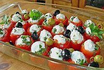 Tomate mit Schafskäsecreme