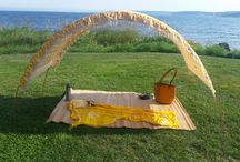 Cool Shade Tents / Suniela Beach makes the coolest, most stylish & portable cabanas.   Spend all day outdoors!  At the beach or in the park.