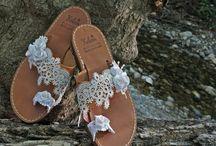 bride's sandals / leather sandals for bride