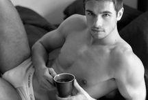 Hot Men Drinking Hot Coffee