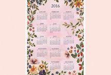 Calendario 2016 Diseños Modernos