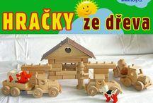 Stavebnice - hračky ze dřeva