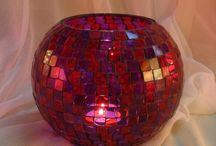 Glass Mosaic Votive