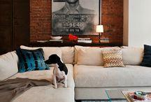 Cozy Minimal Basement Family Room