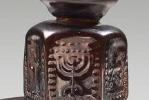 Byzantine art artifacts / Crusader brick - Pilgrim badge - Byzantine art - Byzantine mirror - Byzantine belt buckle