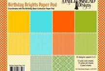 ODBD Birthday Brights Paper Pad