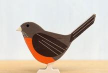 Birds wooden