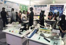 Exhibition - Amalthea, IIT Gandhinagar / Vexma Team at #3DPrinting Amalthea, IIT Gandhinagar 2017 - Where technology meets Innovation