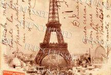 Decoupage paper Paris