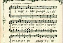 xmas music sheets