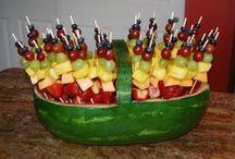 Graduation party fruit display