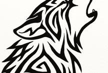 волки кошки тигры рисунки
