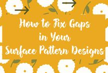 Pattern design techniques / Useful and handy tips, tricks and techniques for when creating pattern designs with Adobe Illustrator, Photoshop or by hand / analog.