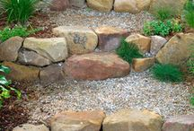 Landscape-Garden Pathways & Steps / Idea's for a step and walkway to your garden. / by Linda Finni