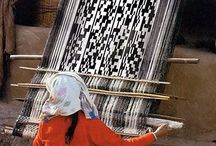 Hand weaving - rugs - carpets