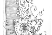 Colouring pages for adults / grown up colouring pages