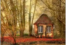 Hideaways, Cottages, and Other Cozy Spaces / Nooks and Crannies and Snuggeries.  Places to feel warm, safe, and content.