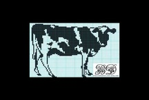X stitch   cows and pigs / by Barbara Castle