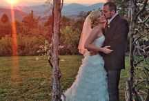 Outdoor Weddings on a Mountaintop / Outdoor weddings in the Asheville & Hendersonville areas of Western North Carolina, featuring mountain views, spectacular sunsets, and a premier pavilion on a private mountain top!