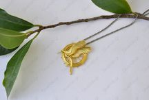 Hunger Games Jewelry Replicas by Silverlab Workshop / Women's jewelry replicated from the Hunger Games books & movies - handcrafted by Silverlab Workshop.  Women's Jewelry | Gold & Silver | Women's Fashion | Movies | Jennifer Lawrence | Women's Style