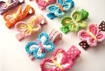 Crochet butterflies & flowers