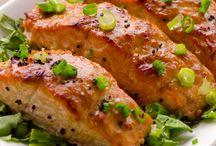 Wheat free salmon dish