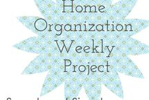 home organization by week / Organizing my home in baby steps. Once a week look for a new easy project to tackle. Easy. / by Sara | Go Gingham