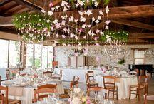 Elevated roof decor weddings
