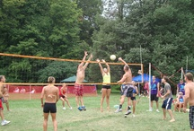 |===| Volleyball Battle |===| / For more than 25 years volleyball players have competed in this day long tournament held the last few years at McCann Field on Toledo Avenue near downtown Put-in-Bay. Over 2500 players compete in numerous divisions.