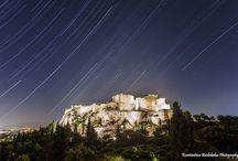 Startrails / Startrails με φόντο την Ελλάδα