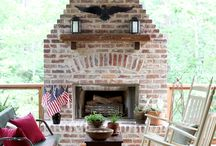 Outdoor Fireplace / by Suzanne Pyburn