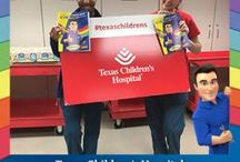 The Cottman Man Coloring Book Visits Children's Hospitals / Cottman Transmission along with Advanced Auto Parts developed an auto friendly children's coloring book, donating it to over 40 children's hospitals coast to coast.