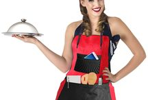 Kitchen Chef Apron / Perfect Kitchen Chef apron. Two styles in one. Wear it as a bib or waist apron
