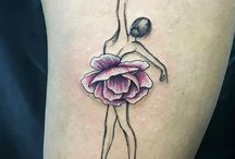 tatuaż baletnica