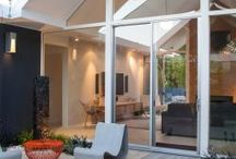 Eichler Home Atrium and Courtyard Ideas / Here you will find great inspiration for remodeling your Eichler Home Atrium or courtyard in your post and beam modern | mid-century modern home