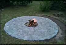 fire pit  paving ideas
