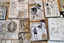 Sketchbooks/Travel journals by Trine Mangersnes / Collection of sketchbooks/visual diaries and travel journals. (old / new)