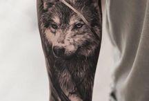 Татуировки с волком