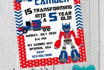 Transformers / Nates 5th bday
